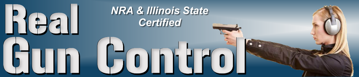 Logo for Real Gun Control - Illinois' best Concealed Carry Trainer
